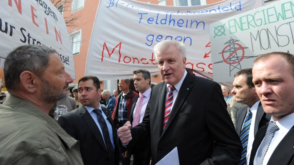 Protest gegen Gleichstromtrasse