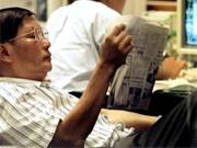 Zeitung, Bildschirm, ap