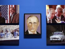 Portraits Of World Leaders Painted By Former President George W. Bush Go On Display At His Presidential Library