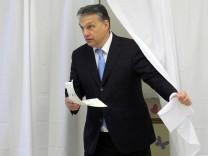 Viktor Orban bei der Wahl