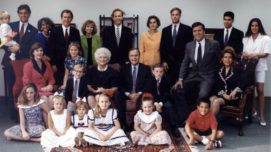 FILE PHOTO OF BUSH FAMILY