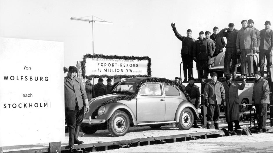 Export des 500.000. VW-Käfers 1956