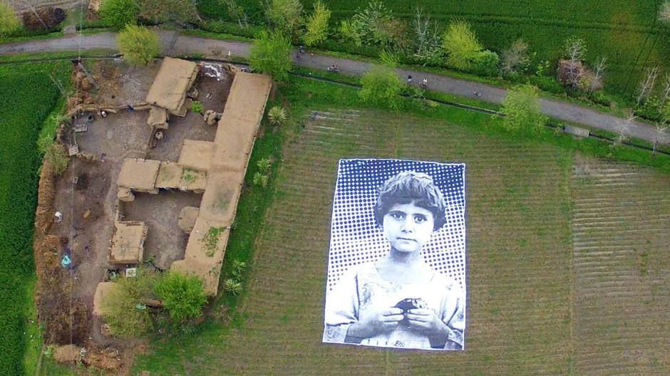 Drohnenkrieg Kunstaktion gegen Drohnen-Angriffe