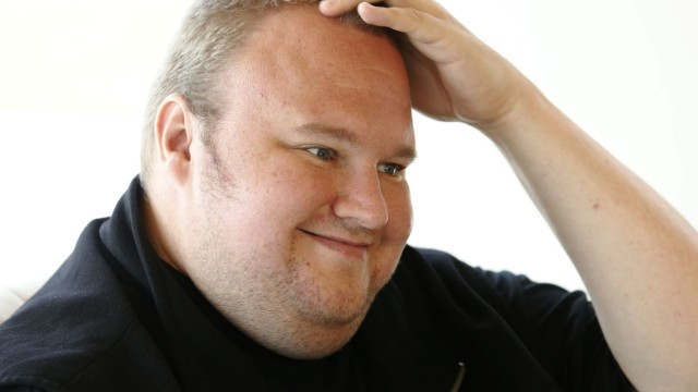 File photo of Kim Dotcom speaking during an interview with Reuters in Auckland