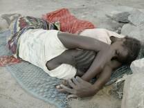 Schlafende - in Galabun, Sierra Leone