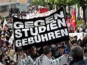 Proteste gegen Studiengebühren in Hessen; ddp
