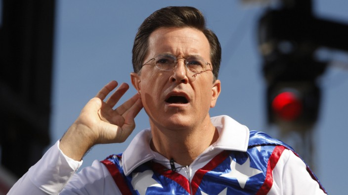 Stephen Colbert David Letterman Late-Night-Show CBS Comedy Central