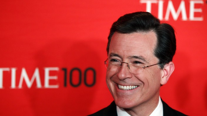 File photo of comedian Stephen Colbert at the Time 100 Gala in New York