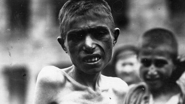 Undated handout photo of Armenian orphans