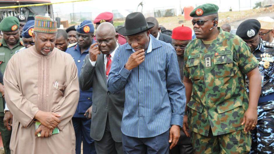 Goodluck Jonathan, Präsident von Nigeria, nach dem Terroranschlag in Abuja