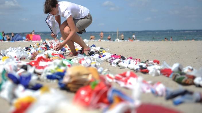 Aktion gegen Plastikmüll in den Meeren