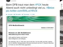 Technischer Fehler: DFB schreibt Bayern vorab ins Pokal-Finale