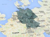 Spritpreismonitor - Europakarte