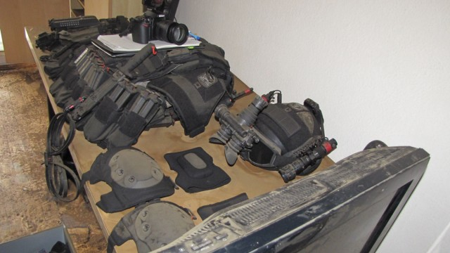 Waffenarsenal in Münchner Wohnung