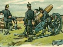Postkarte 'Fussartillerie.  Schwere Feldhaubitzen' | Postcard 'Artillery. heavy field howitzer' Erster Weltkrieg