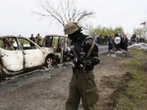 Prorussische Milizen in Slawjansk