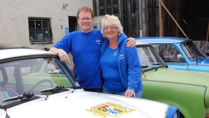Peter und Renate Benkner vom Bayrischen Trabant Club.