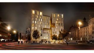 Entwurf des Neubaus vom Hotel Königshof am Stachus