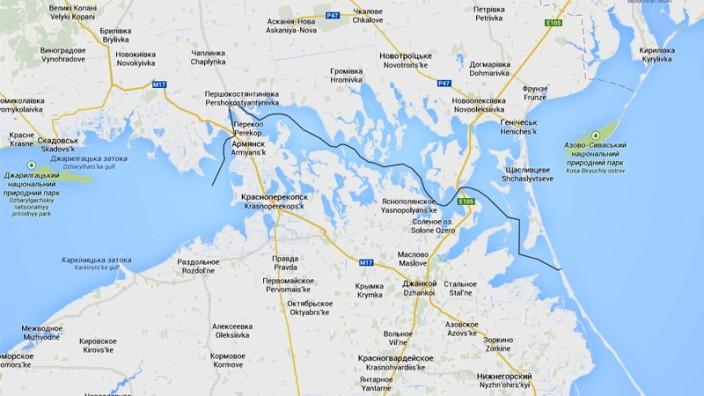 Google Maps spaltet Krim für die Russen ab - Politik ...
