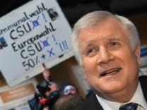 Horst Seehofer zur Europawahl