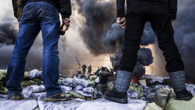 Krieg in der Ukraine Maidan in Kiew