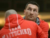 Training zu Box-WM-Kampf Klitschko - Leapai