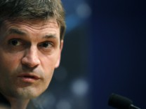 File photo of Barcelona's coach Tito Vilanova attending a news conference on the eve of their Champions League soccer match against Celtic in Barcelona