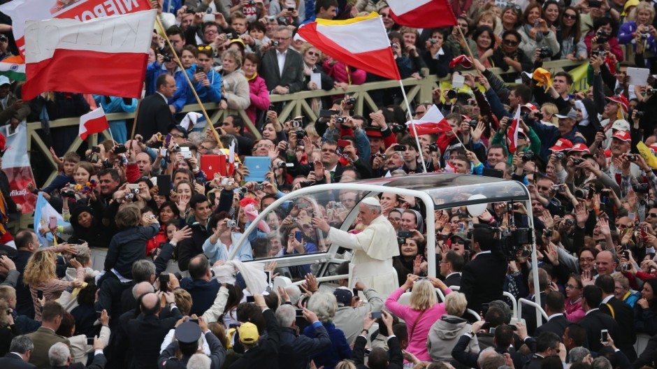 Pope John Paul II And Pope John XXIII Are Declared Saints During A Vatican Mass
