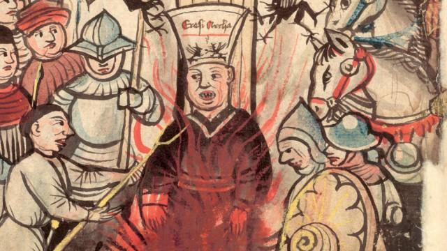 Richental-Chronik 1464, Gebhard Dacher, Jan Hus auf dem Scheiterhaufen Konzil in Konstanz