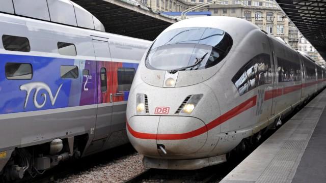 TGV und ICE am Bahnhof Gare de l'Est in Paris
