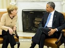 German Chancellor Merkel in Washington