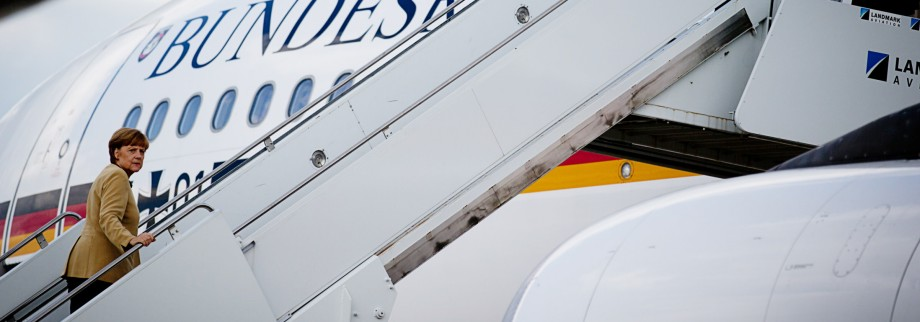 Merkel Rückflug