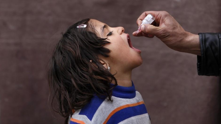 Ausbreitung von Polio