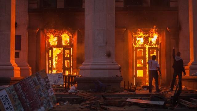 Odessa Trade Union Building fire