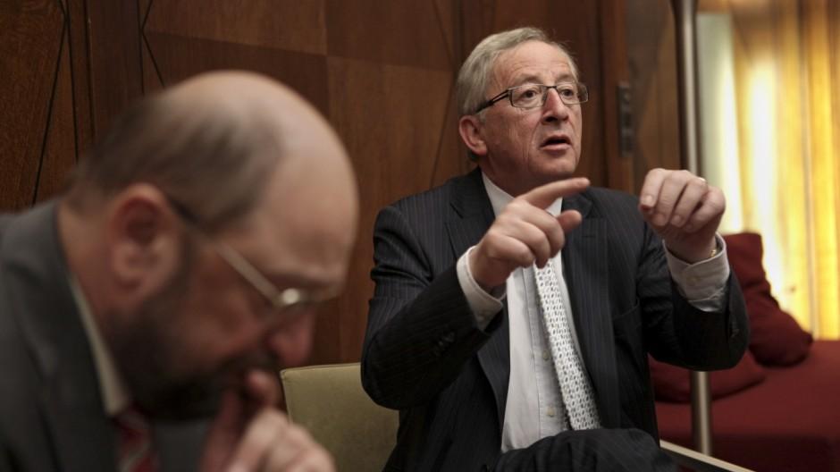 Europawahl Martin Schulz und Jean-Claude Juncker