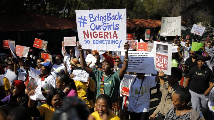 South Africa Nigeria abducted girls protest