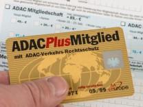 Eine ADAC - Mitgliedskarte