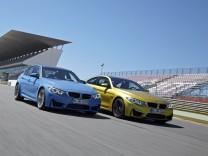 Der BMW M4 und M3 auf der Rennstrecke