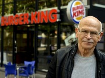 Workers Protest At Burger King With Guenter Wallraff