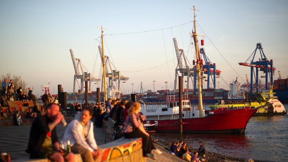 Abendsonne in Hamburg