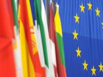 Fahnen der  europäischen Mitgliedsstaaten