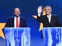 Ska Keller, Martin Schulz, Guy Verhofstadt, Alexis Tsipras, Jean-Claude Juncker