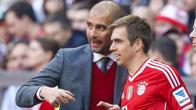 Trainer Cheftrainer Pep GUARDIOLA FCB Philipp Lahm FCB 21 FC BAYERN München TSG 1899 HOFFENHEI