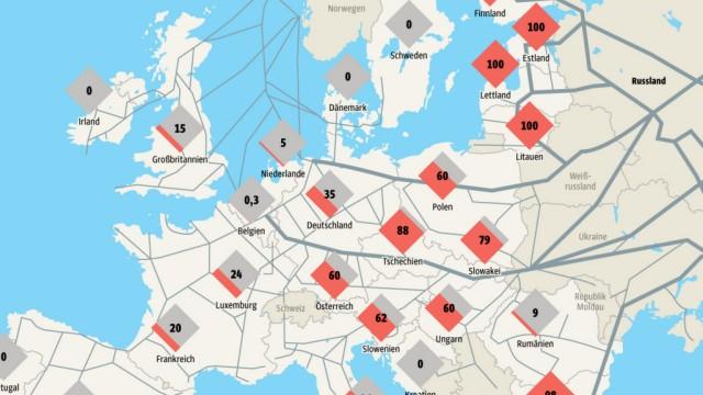 Karte Öl Gas