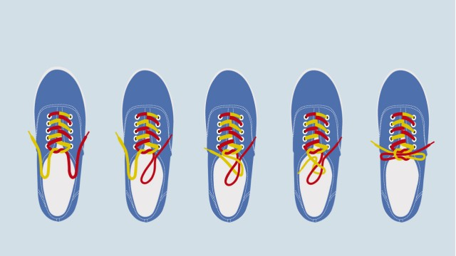 Grafik Schuhbänder