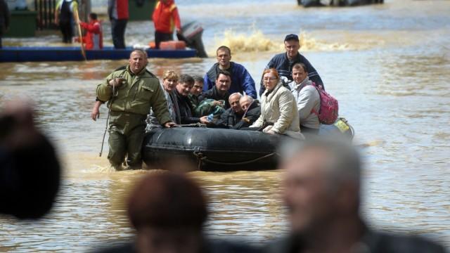 Hochwasser Unwetter auf dem Balkan