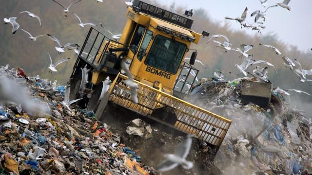 Müllentsorgung auf der Deponie Ihlenberg