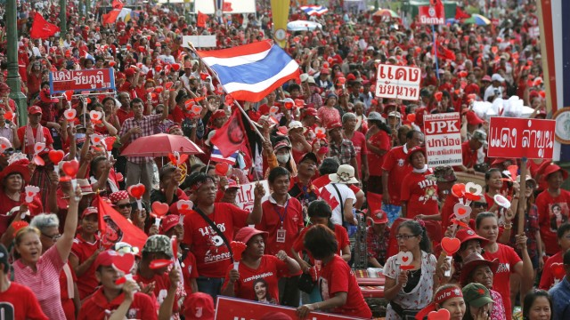 Pro-government rally in western Bangkok