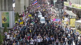 Anti Government Protestors Take To The Streets Following Removal Of Thai PM