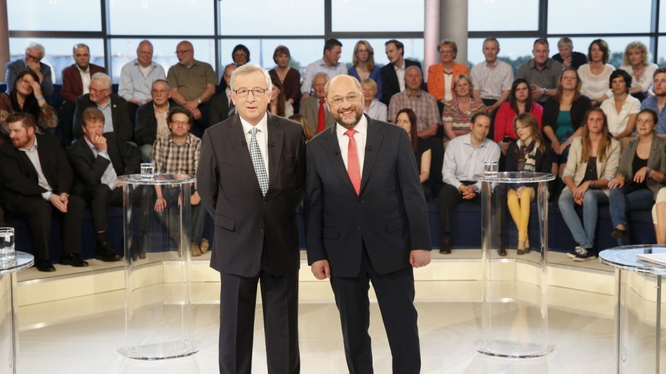 Martin Schulz And Jean-Claude Juncker Face Off In TV Debate